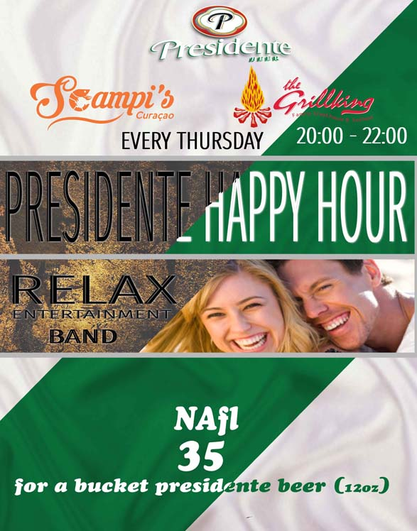 presidente happy hour newsletter