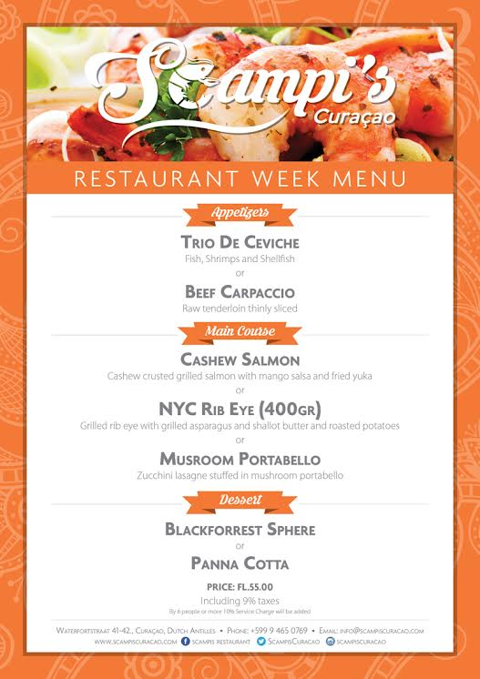 restaurant week curacao 2016